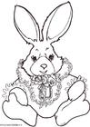 Kleurplaat konijn