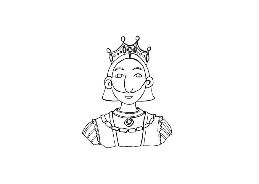 Kleurplaat Koning Afb 10429