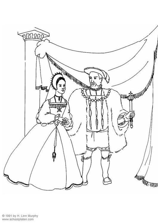 kleurplaat koning en koningin 1534 afb 3833