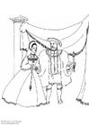 Kleurplaat Koning en koningin (1534 )