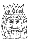 Kleurplaat masker koning