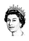 Kleurplaat koningin Elisabeth 2
