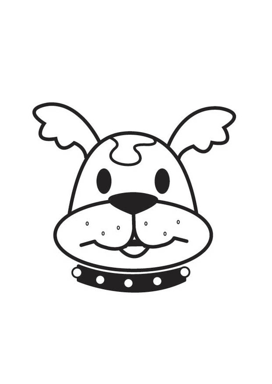 Kleurplaten Printen Honden.Kleurplaat Kop Hond Gratis Kleurplaten Om Te Printen
