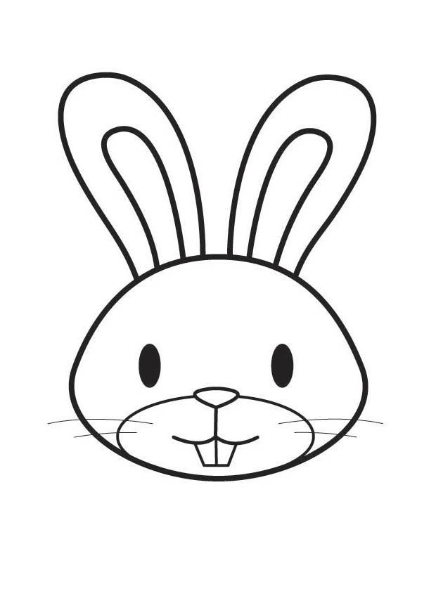 kleurplaten konijnen maskers