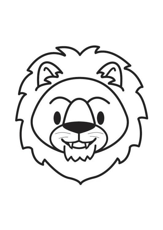 kleurplaat kop leeuw gratis kleurplaten om te printen