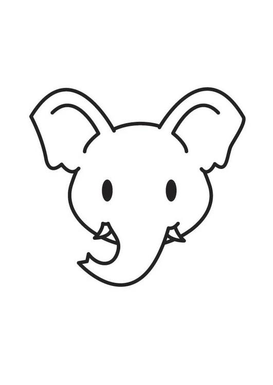 kleurplaat kop olifant gratis kleurplaten om te printen