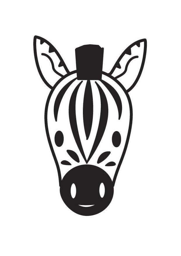 kleurplaat kop zebra gratis kleurplaten om te printen