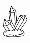 Kleurplaat kristal