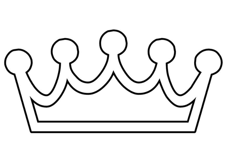 Kleurplaat kroon Afb 27250 Images