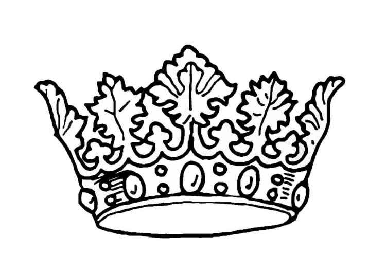 Koning Koningin Kleurplaat Kleurplaat Kroon Koning Afb 9068