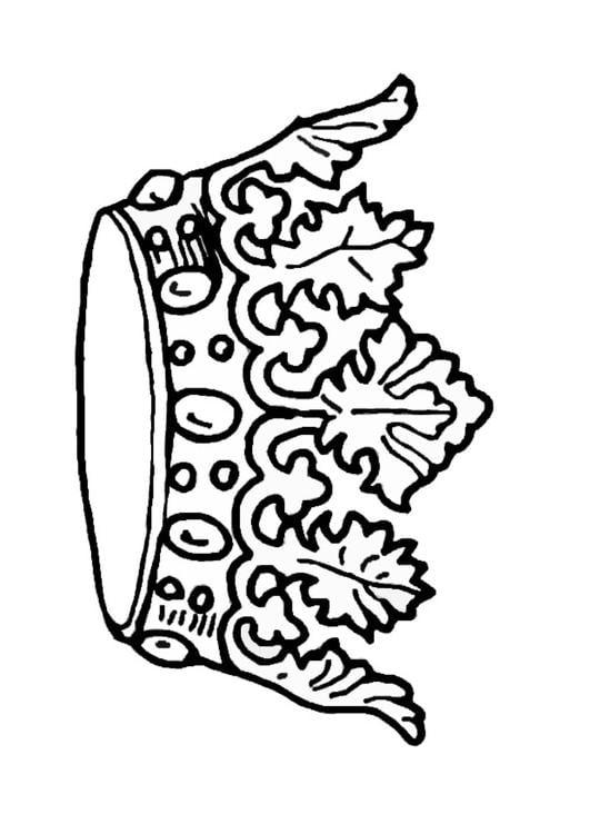 kleurplaat kroon koning afb 27244