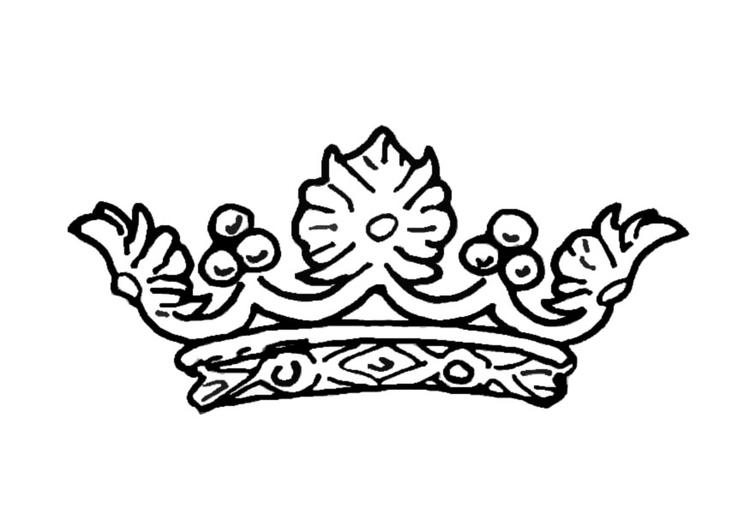 kleurplaat kroon koningin afb 13722