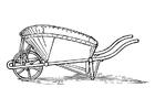 Kleurplaat kruiwagen