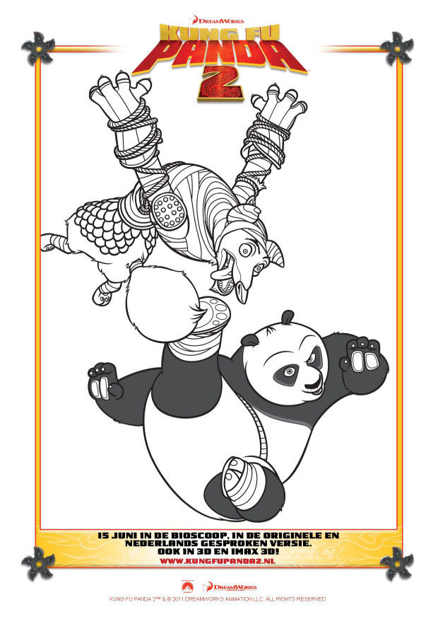 kleurplaat kung fu panda 2 afb 22401 images
