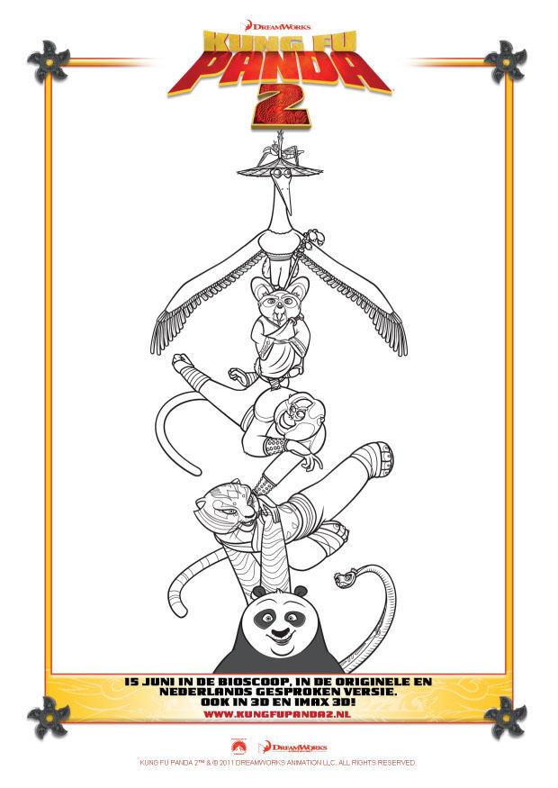 Kleurplaat kung fu panda 2 afb 22409 - Dessin kung fu panda ...