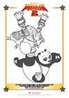 Kleurplaat Kung Fu Panda 2