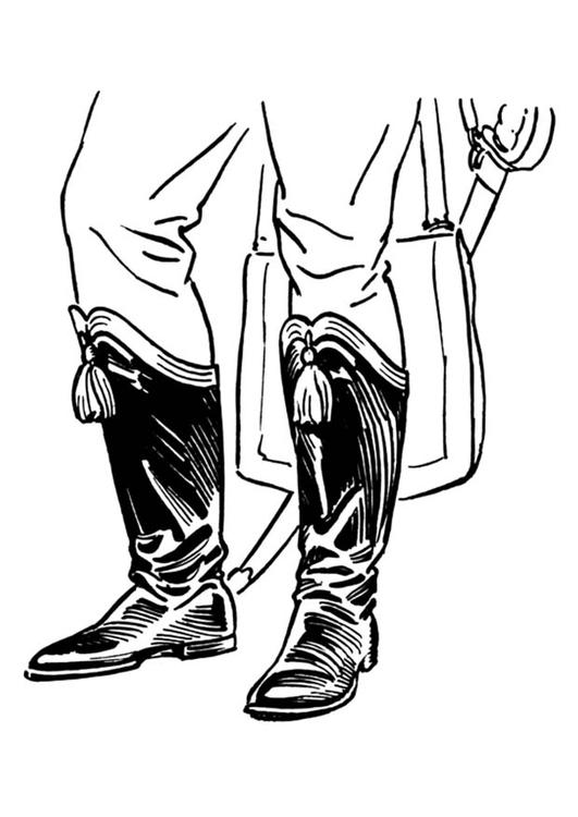 kleurplaat laarzen afb 18892