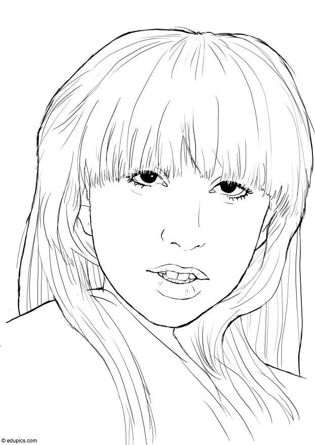 lady gaga coloring pages for kids printable free coloring