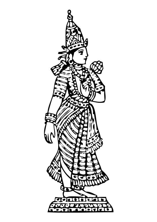 Kleurplaat Lakshmi Afb 17374