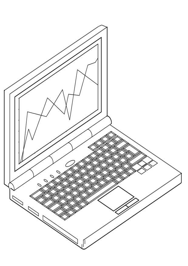Kleurplaat laptop afb 19123 - Ordinateur coloriage ...
