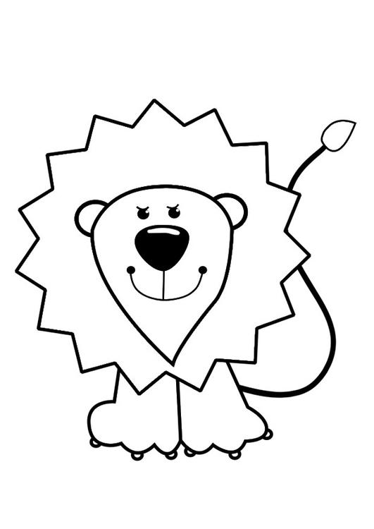 Kleurplaten Leeuw.Kleurplaat Leeuw Afb 29422
