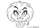 Kleurplaat leeuwin