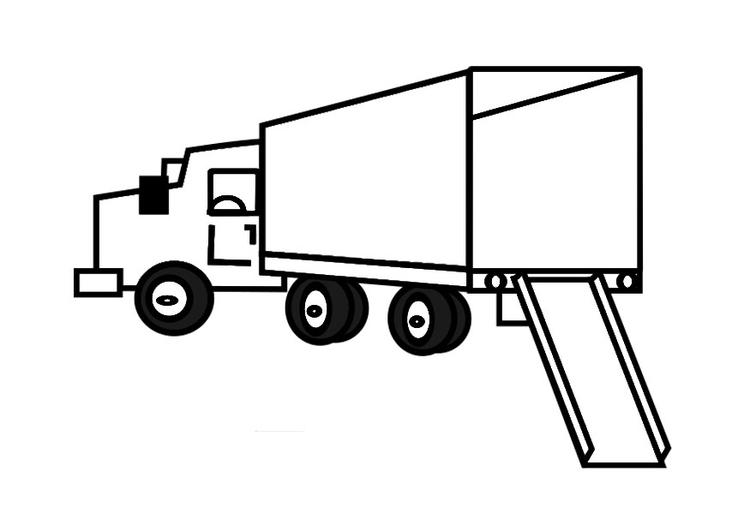 Kleurplaat Lege Verhuiswagen Afb 29164