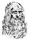Kleurplaat Leonardo da Vinci