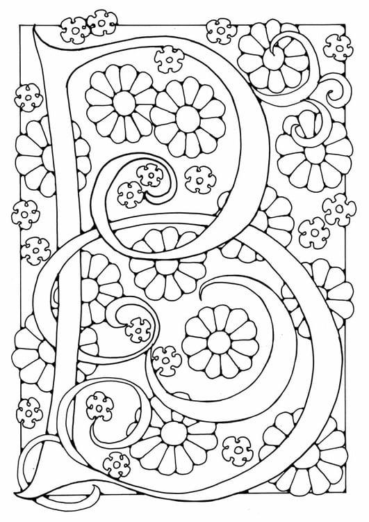 Kleurplaat Letter B Afb 21887