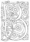 Kleurplaat letter - B