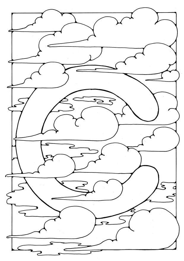 kleurplaat letter c gratis kleurplaten om te printen