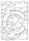 Kleurplaat letter - c