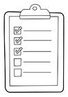 Kleurplaat lijst op klembord