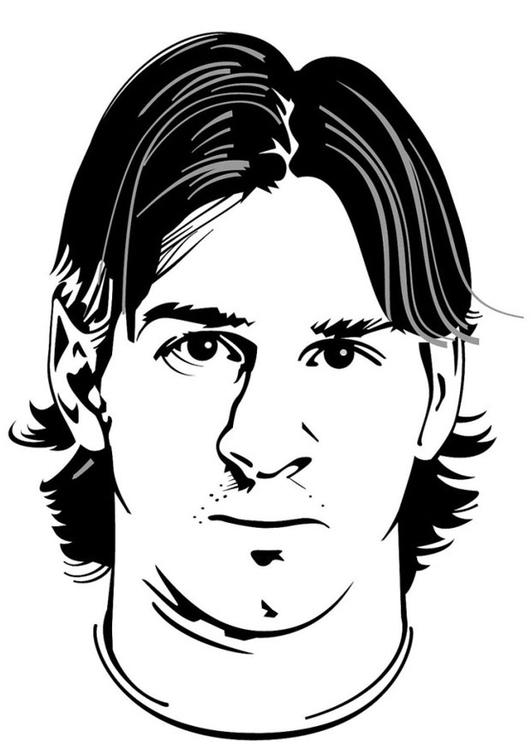 Kleurplaten Voetbal Messi.Kleurplaat Lionel Messi Afb 24751