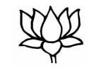 Kleurplaat lotus