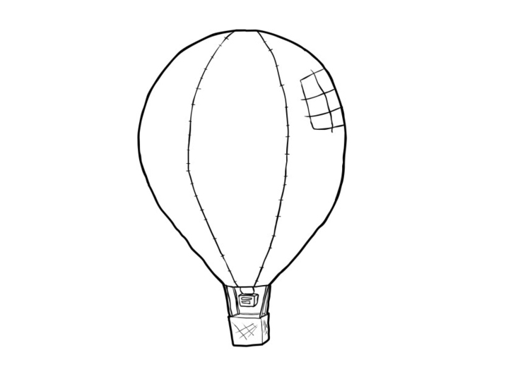 kleurplaat luchtballon afb 13944
