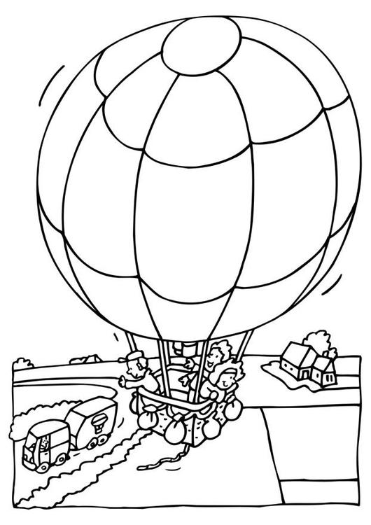 kleurplaat luchtballon gratis kleurplaten om te printen