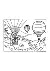 Kleurplaat luchtballon