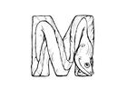 Kleurplaat m-moray