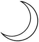 Kleurplaat maan