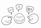 Kleurplaat maatschappij - taal