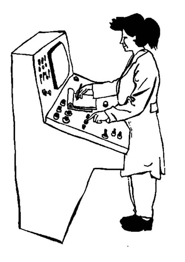 kleurplaat operator machines afb 9352