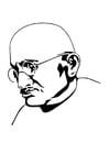 Kleurplaat Mahatma Gandhi