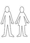 Kleurplaat man en vrouw