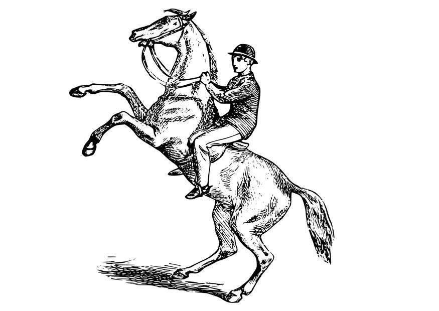 man riding horse coloring pages - photo#25