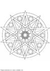 Kleurplaat mandala-1402b