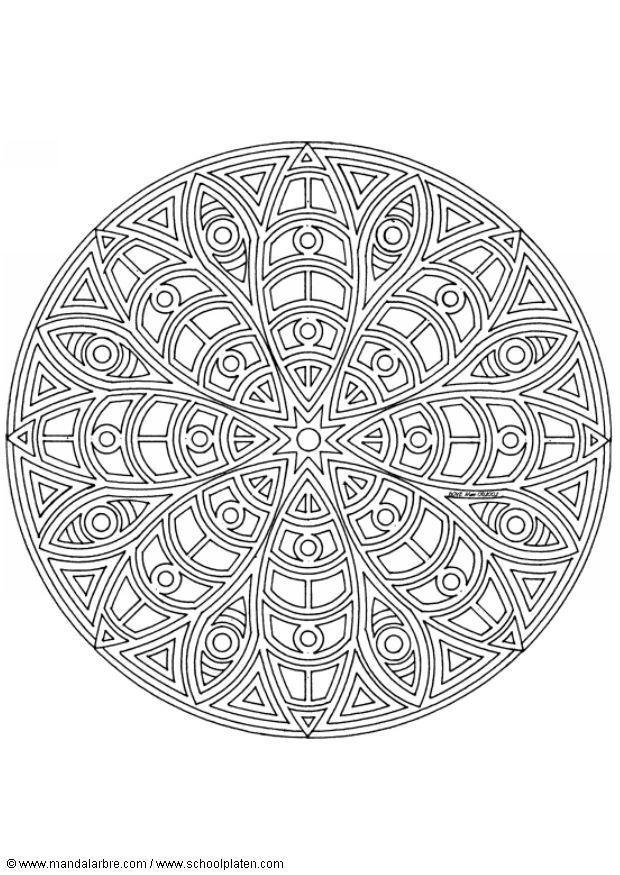 Kleurplaat Mandala 1402c Afb 4454