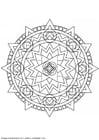 Kleurplaat mandala-1402d