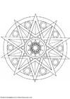 Kleurplaat mandala-1502a