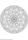 Kleurplaat mandala-1502g